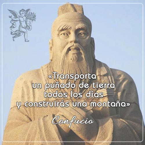 #FraseDelDia  «Transporta un puñado de tierra todos los días y construirás una montaña» Confucio  #quotes #frasesmotivadoras  #elangeldetusalud