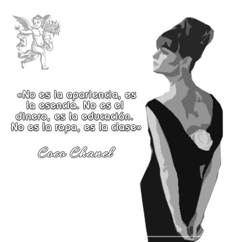 """#FraseDelDía   """"No es la apariencia, es la esencia.No es el  dinero, es la educación.  No es la ropa, es la clase""""   Coco Chanel"""