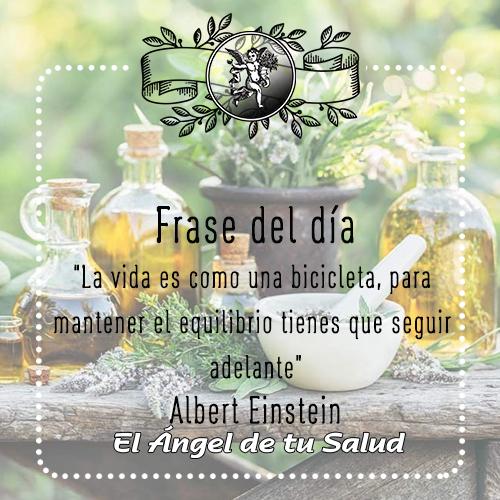 """""""La vida es como una bicicleta, para mantener el equilibrio tienes que seguir adelante"""" Albert Einstein"""