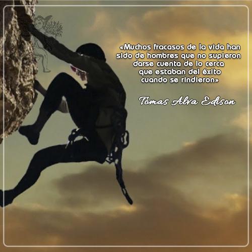 #FraseDeldía «Muchos fracasos de la vida han sido de hombres que no supieron darse cuenta de lo cerca  que estaban del éxito cuando se rindieron»  Tomas Alva Edison