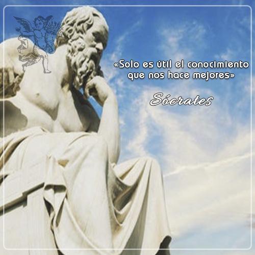 """#FraseDelDia   """"Solo es útil el conocimiento que nos hace mejores."""" Sócrates"""