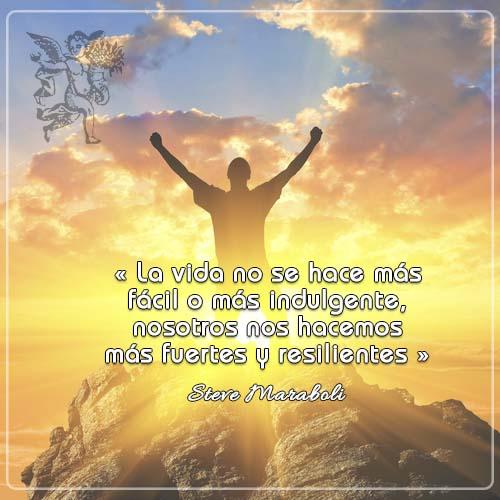 #FraseDelDia  « La vida no se hace más fácil o más indulgente, nosotros nos hacemos más fuertes y resilientes » Steve Maraboli